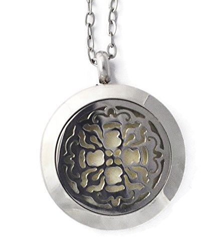 Stainless Steel Aromtherapy Necklace Antique Cross 20 Inch Antique Locket Cross