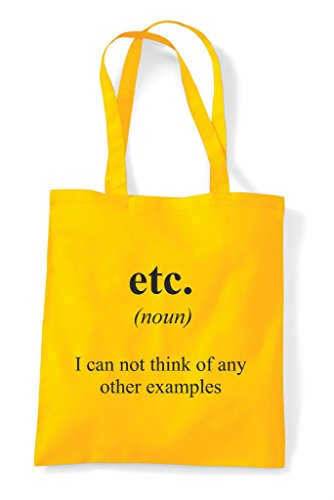 Tote Dictionary Etc Shopper Funny Yellow Alternative Definition Bag The Not In BA4BO