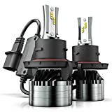 H13/9008 LED Headlight Bulbs, Marsauto 12000LM M2 Series Led Hi/Lo Beam Headlamp Conversion Kit with Fan, CSP Chip CANbus-Ready IP67 6000K Xenon White 2-Pack