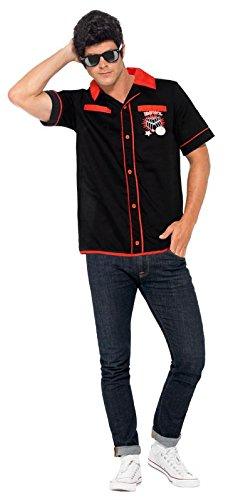 1950s Men's Costumes 50s Bowling Shirt  AT vintagedancer.com