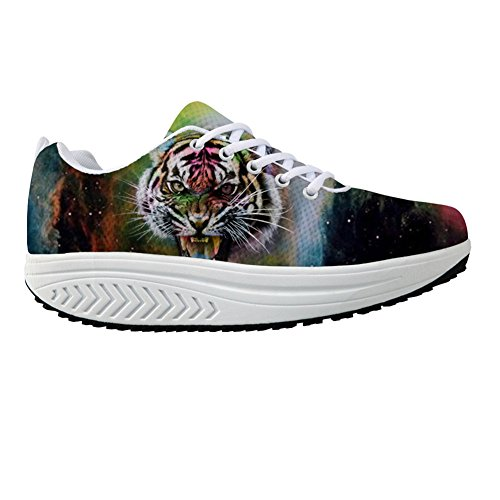 Wedges U FOR Women's Swing Walking Galaxy Colorful DESIGNS Tiger Sneaker Strength Space Animal Fitness w7rFTqwd