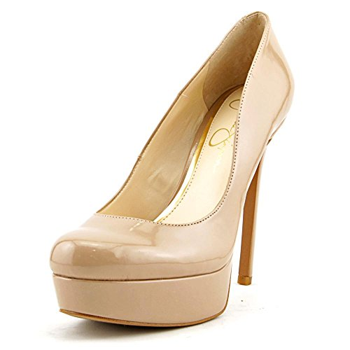 Jessica Simpson Women's SANDRAH Dress Pump NUDE PATENT,9.5