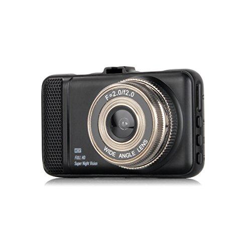 "Dash Cam,EVASA 150° Wide Angle Full HD 1080P with G-Sensor,Night Vision,WDR,Loop Recording,3.0"" LCD Dashboard Camera Recorder (Black-)"
