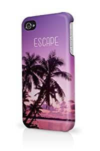 Escape Beach Trees iPhone 5 Case - Fits iPhone 5 Full Print Plastic Snap On Case by lolosakes