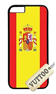 iPhone 6 Case,VUTTOO iPhone 6 Cover With Photo: Spain Flag For Apple iPhone 6 4.7Inch - PC Black Hard Case