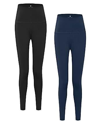 LAPASA Yoga Pants for Women. Camel Toe-Free, Squat-Proof Sports Leggings. High Waist, Hidden Pocket (Plus L01