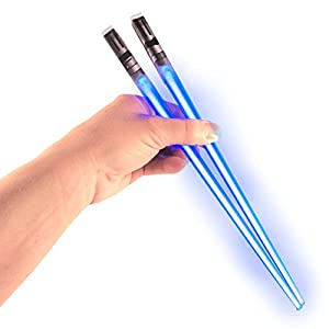 Chop Sabers Light Up LightSaber Chopsticks, Blue Pair