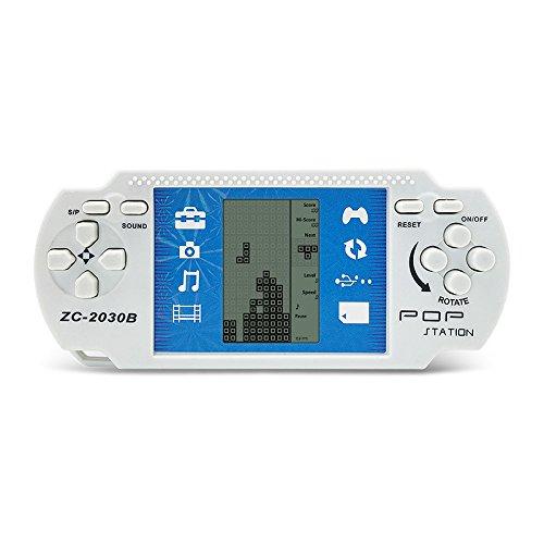 JXD White Retro Portable Tetris Handheld Built-in 23 Games Tetris Kids Electronic Brick Games