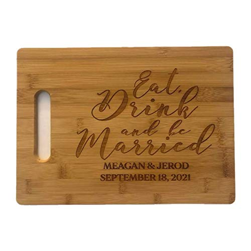 Personalised Anniversary Laser Engraved Wooden Chopping BoardWedding Gifts