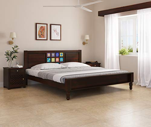 Induscraft Sheesham Wood Arjuna Queen Bed