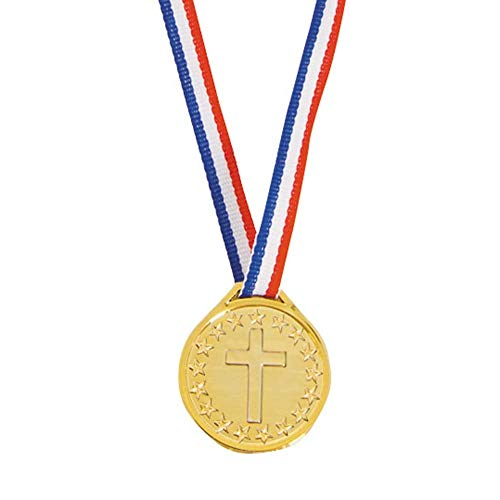 Christian Athlete Plastic Medals by Fun Express