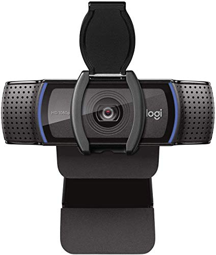 Logitech C920S HD Pro Webcam with Privacy Shutter - Widescreen Video Calling and Recording