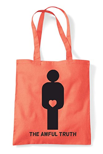 Shopper Awful Figures Bag Coral Tote Man The Gender Truth Heart 8wFdOFx