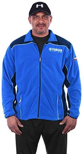 JH DESIGN GROUP Men's Yamaha Racing 2-Tone Blue Zip up Polar Fleece Jacket (X-Large, - Jacket Soft Advantage