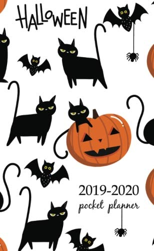 2019-2020 Pocket Planner: 2 Year Pocket Monthly Calenda Planner  Schedule Organizer Appointment Journal Notebook 4 x 6.5 inch And halloween pattern (2 Year Pocket Monthly planners)