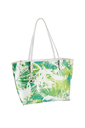 Print Large Shopper Handbag - Calvin Klein Hailey Palm Print Shopper Tote Bag