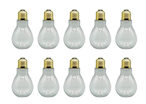 Clear Plastic Fillable Light Bulbs - Set of 10 - Candy or - Roll Solid Gold 10k