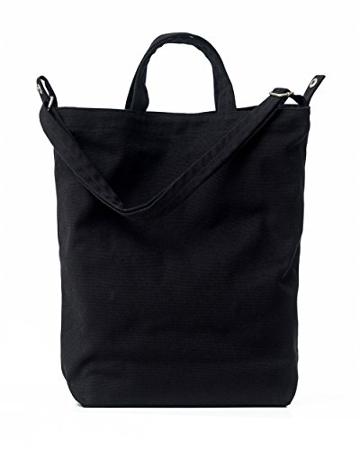BAGGU Duck Bag Canvas Tote, Essential Everyday Tote, Spacious and Roomy, Black