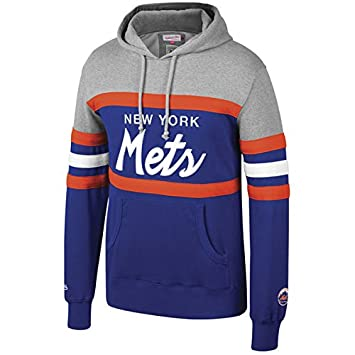 super popular dee73 5b2a2 Amazon.com : Mitchell & Ness New York Mets Head Coach Hoodie ...