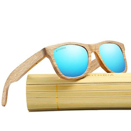 0ed9b7d119 85% OFF KITHDIA Diseñador gafas de sol de madera de bambú para hombre retro  gafas