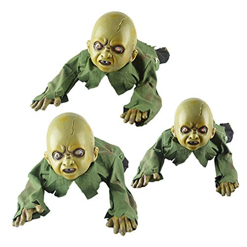 Halloween Crawling Baby Zombie Prop Animated Horror Haunted House Party Decor - Pack of 1 -