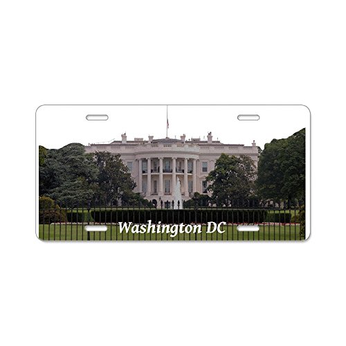 CafePress - Washington DC Aluminum License Plate - Aluminum License Plate, Front License Plate, Vanity Tag District Of Columbia License Plate