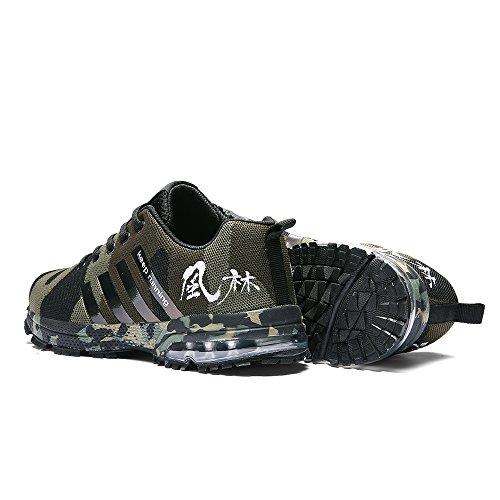 Outdoor Grün Laufschuhe Sneaker Männer Armee Laufschuhe Damen Licht Training CAGAYA Athletic Tarnung für Herren tqZTEO