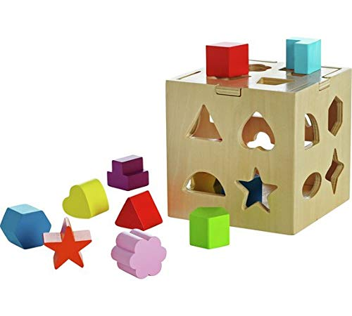 Chad Valley Playsmart Wooden Shape Sorter.