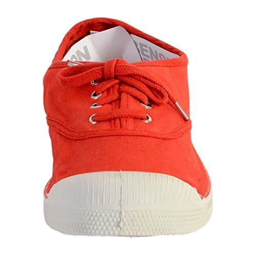 0212 Rouge Lacet Tennis Femme coquelicot Baskets Bensimon Un4fqvYx