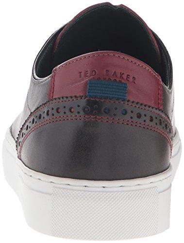 Sneaker Ted Baker Mens Kiing Moda In Pelle Grigia
