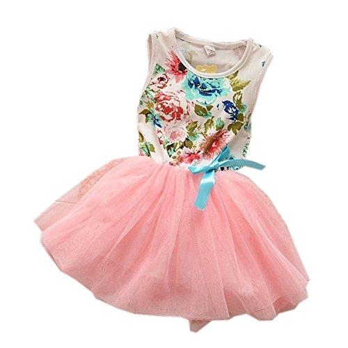 Baby Girls Dress Pink Floral Patchwork Tutu Dress, 1-2 Yrs