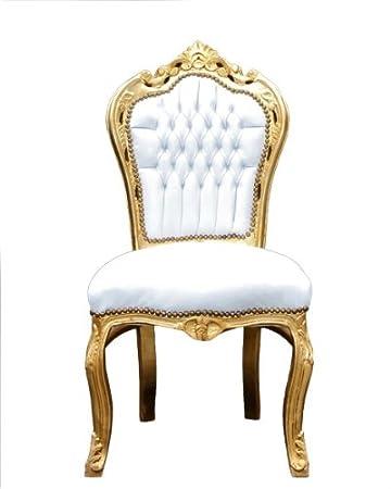 Casa Padrino Barock Esszimmer Stuhl Weiß/Gold - Möbel Antik Stil ...