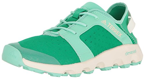 adidas Outdoor Women's Terrex Climacool Voyager Sleek Water Shoe, Core Green/Chalk White/Easy Green, 9 M US (Adidas Water Slides)