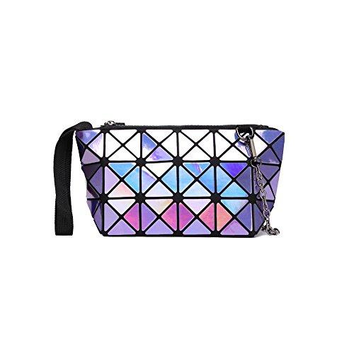 YXPNU Lady Bolsa Geometría Doblar Cadena Láser Moda Ocio Compras Laserviolet