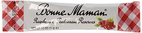 Bonne Maman Raspberry Mix Preserve Packets - 0.5 oz x 100 pcs - Kosher