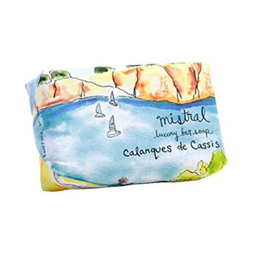 Mistral French Vegetable Soap Organic Shea Butter Calanques Marine 7 oz / 200g. (French Sandalwood Soap)