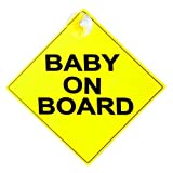 Prime-Line Products S 4729 Baby On Board 5-Inch by 5-Inch Car Window Sign With Suction Cup by Prime-Line Products