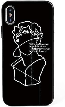 Black David Statue Coque pour iPhone 7 Sculpture Michel-Ange ...