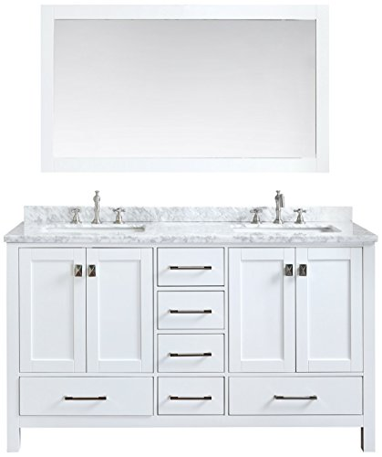 Ari Kitchen and Bath Akb-Bella-72-WH Bella Vanity Set with Mirror, 72'', White by Ari Kitchen and Bath