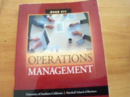 Marshall School of Business Usc Operations Manegement Duad 311