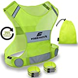 No.1 Reflective Vest Running Gear | Your Best Choice to Stay Visible | Ultralight & Comfy Motorcycle Reflective Vest | Large Pocket & Adjustable Waist | Safety Vest in 6 Sizes + Hi Vis Bands & Bag