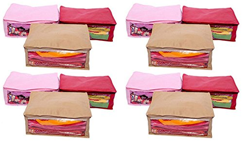 Kuber Industries™ Non Woven Saree Cover 12 Pcs Combo Multi Color  Exclusive Product