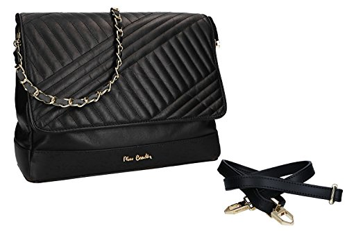 CARDIN Italy in black Made PIERRE woman in Shoulder VN2185 leather bag P6qnzwSxt