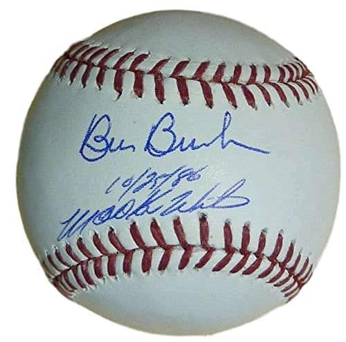 Bill Buckner & Mookie Wilson Autographed Boston Red Sox/New York Mets OML Baseball JSA