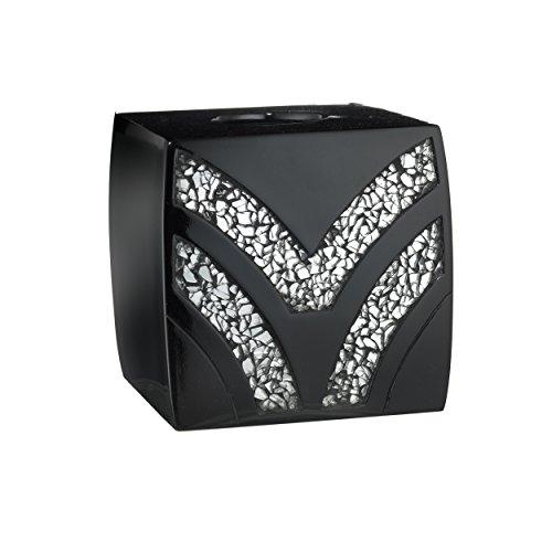 Popular Bath Tissue Box, Sinatra Collection, Black