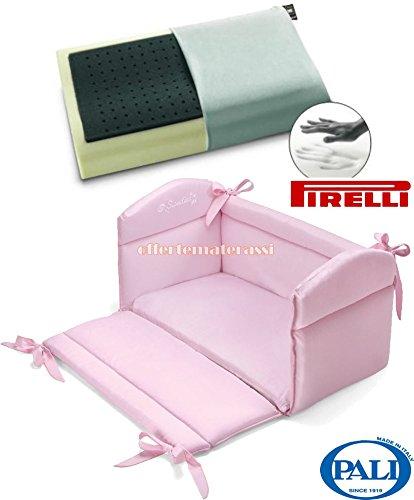 Reductor de cuna postes Sweeties Para Cuna + rosa tapicería ...