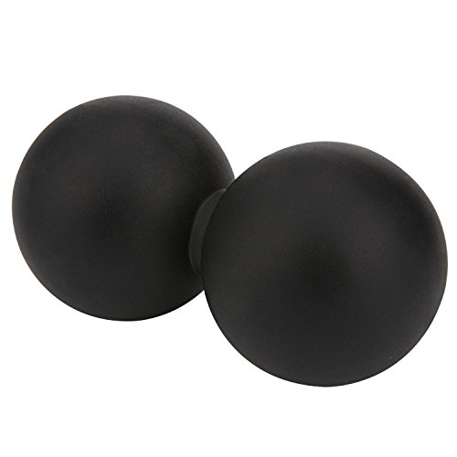 Lacrosse Balls – VANWALK Black Peanut Massage Lacrosse Ball Fits Mens Womens Girls Yonth for Mobility Training, Deep Muscle Tissue Therapy & Recovery