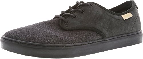 Vans Men's Ludlow Sneaker Stealth Fleck Shoes (8.5 Men's/10 Women's, Stealth Fleck Black/Black)