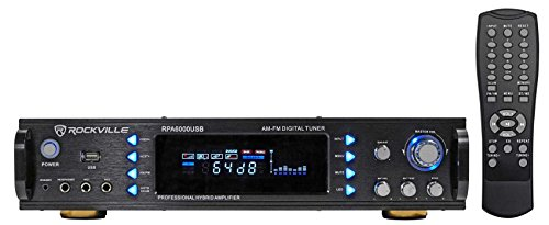 Karaoke Mixing Amplifier Amp - Rockville RPA6000USB 19