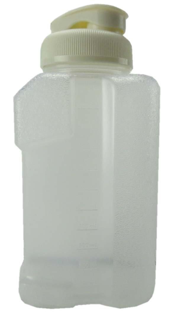 VMI P-02668 Beverage Bottle 1 Liter White